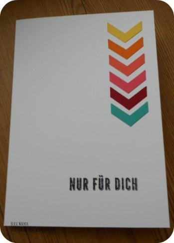 Hipp Hipp Hurra!, Pfeilstanze, Geburtstagskarte, Glückwunsch