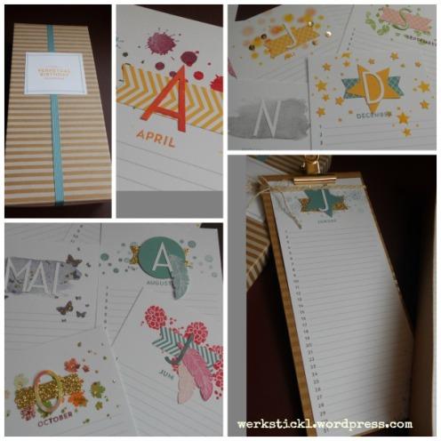 Simply Created Set Kalenderkunst, Perpetual Birthday Calender, Stampin´Up!, Geschenkidee, Geburtstagskalender