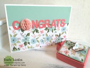 Mach was draus, Geburtstagsblumen, Schachtel, Verpackung, Glückwunschkarte
