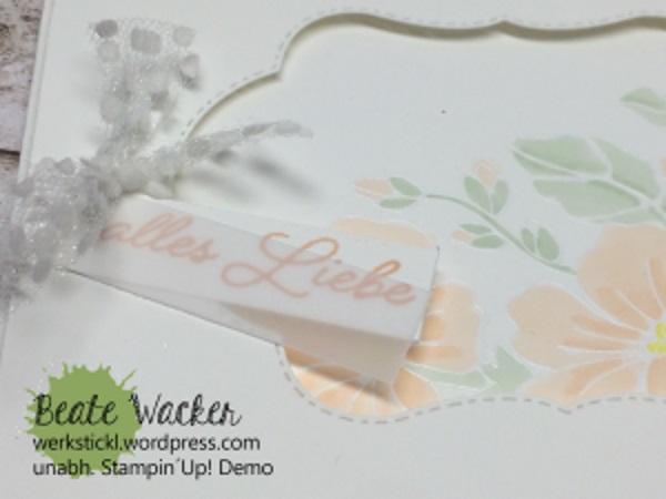 Farbenfroh durchs Jahr, Farmelits, Stampin´Blends, Tüllband, Detail, Karte